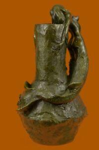 Nude Mermaid Planter Bronze Sculpture Statue Figurine Figure Home Deco Art