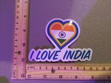 SALE! I Love India Flag Heart Logo Country Travel Vinyl Decal Sticker Car Truck