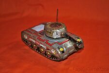 Vintage Tin Litho Space Tank Rare Friction Spark Toy Blemishes/Not Working Japan