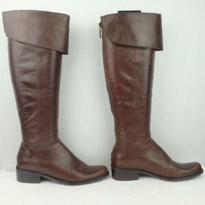 Dune Leather Boots Size Uk 3 Eur 36 Womens Ladies Shoes OTK Pirate Brown Boots