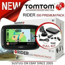 TomTom Rider 550 Premium Motorcycle GPS SatNav│*Lifetime World Maps+Speed Camera