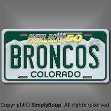 Denver BRONCOS NFL Super Bowl 50 Champions Football License Plate Tag New Cool 2