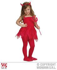 Childrens Little Devil Fancy Dress Costume Devil Girl Halloween Outfit 1-2 Yrs