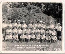 1st Ever Girl Scout Senior Roundup PONTIAC MI Highland State Rec Park 1956 Photo