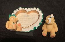 Cherished Teddies May Birthstone Photo Frame & Avon May Emerald Mini Figurine