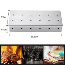 Stainless steel Gas Grill Smoker Box For BBQ Wood Chips Smoke Flavored Charcoal