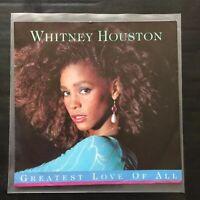 Whitney Houston - Greatest Love Of All German PS Vinyl 45 - NM