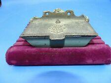 Antique Cast Iron Wall Mount Match Safe Holder 1888 Cryeo Made In U.S.A.