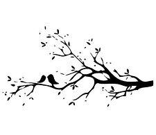 love birds on branch childs bedroom wall / ceiling  Wall Sticker Art Vinyl Decal