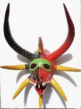 1992 MIGUEL CARABALLO Puerto Rico VEJIGANTE CARNIVAL papier-mâché 9 HORNS mask