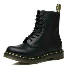 Classic Leather Riding Combat Boots Mens Womens Ankle Boots Unisex Combat Shoes