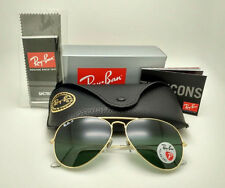 New Genuine Ray-Ban RB3025 001/58 Aviator Polarized 58mm Gold Sunglasses