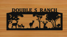 PERSONALIZED WHITETAIL DEER WALL HANGING