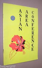 1962. GIRL GUIDES ASSOCIATION ASIAN AREA CONFERENCE PROGRAMME. MALAYA