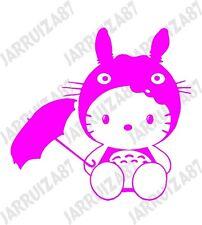 HELLO KITTY IN TOTORO COSTUME CAR TRUCK DECAL STICKER