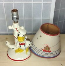 Vintage Donald Duck Lamp(1940's) with lamp shade and cord