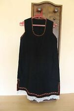 19C. Antique Bulgarian Folk Art Embroidered Traditional Costume Light Wool