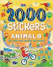 2000 Stickers Animals: 36 Wild and Wacky Activities!, New, Hubbard, Ben Book