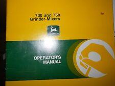John Deere Operators Manual 700 750 Grind Mixers #OMN159444-H8