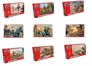 AIRFIX 1:72 / 1:76 ARMY SOLDIERS MODEL KITS - WWI / WWII FIGURES BRITISH GERMAN