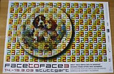 GERMAN EXHIBITION POSTER 2003 - FACE TO FACE NEW IMPULSES IN GRAPHIC DOGS art
