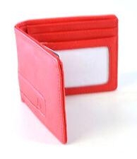 Nixon Showdown Red Leather BiFold Wallet Coin Pocket Card Pocket Logo
