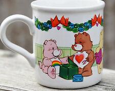 Vintage CARE BEAR stoneware mug 1985 CHRISTMAS Share Friend Wish Cheer Tender