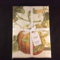 ~NEW~Williams Sonoma Botanical Pumpkin Tablecloth 70 x 120