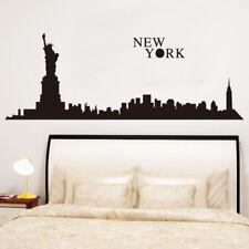 Wandtattoo Wandsticker Wandaufkleber Schwarz New York Skyline 69 x 190 W234