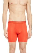 Calvin Klein Light Long Leg Boxer Briefs Red Mens Large New