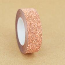 10M Glitter Washi Sticky Paper Masking Adhesive Tape Label DIY Craft Decorative
