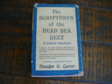 THEODOR H.GASTER: The Scriptures of the Dead Sea Sect. 1st Edition 1957 HC. RARE