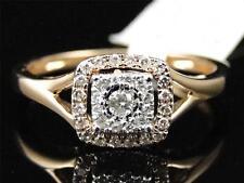 Ladies 14K Rose Gold Solitaire White Diamond Engagement Fashion Designer Ring