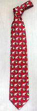 Korea Silk Tie vivid elephant pattern High Quality