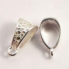 10x tibetan silver caution perles cintre 14,5 x7.5 mm fabrication de bijoux