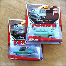 Disney PIXAR Cars RUSTY & DUSTY RUST-EZE 2013 RACING THEME diecast 1&3/8 lot 2