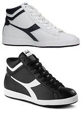 DIADORA GAME P HIGH scarpe uomo donna sneakers alte stan pelle casual smith nero