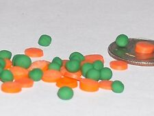 15pc Tiny Miniature dollhouse vegetable Green Peas & Carrots loose food nail art