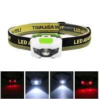 Super Bright Waterproof Head Torch/Headlight LED USB Rechargeable Headlamp LED