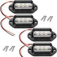 4 pcs SéRies 12 V 6 SMD LED ExtéRieur Plaque D'Immatriculation Tag LumièRe M2G1