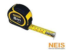 Stanley Tape Measure 8M x 25mm Tylon Coated Tape Rule 30-393 Rubber Grip Measure