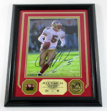 Jeff Garcia Signed Photo Pin Coin Highland Mint Framed Mounted Memories Auto