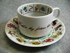 1978 Zarka Fortune Telling Tea Cup Saucer Instructions Int'l Collectors Guild