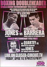 Marco Barrera vs. Junion Jones Vintage Original Boxing Fight Poster