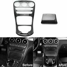 Carbon Pattern Console Gear Shift Panel Trim For Mercedes C GLC Class C300 W205