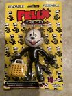 """NEW Felix the Cat with Magic Bag of Tricks 5"""" Bendable Poseable Figure NIP toy"""