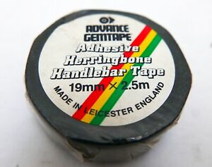 Advance Gemtape - Vintage Adhesive Handlebar Tape, 19mm 2.5m NOS, Herringbone