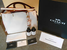 New w Tags COACH 1941 ROGUE 25 in Glovetanned Pebble Leather (White) Handbag