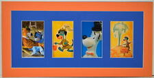 HUCKLEBERRY HOUND 4 Window PRINT PROFESSIONALLY MATTED Hanna Barbera