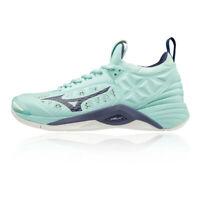 Mizuno Womens Wave Momentum Indoor Court Shoes - Blue Sports Squash Badminton